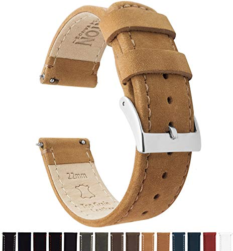 20mm Gingerbread Brown - Standard Length - Barton Quick Release - Top Grain Leather Watch Band Strap (Straps Men Watch For)