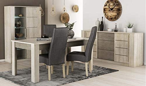 Miroytengo Pack mobiliario salón Comedor diseño Moderno Vitrina ...