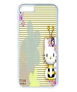 iPhone 6 plus case ,fashion durable white side design phone case, pc material phone cover ,with hello kitty bee.