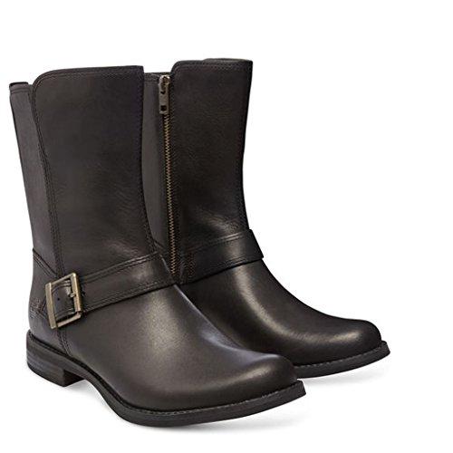 Timberland A123K Damen Savin Hill Mid Zip Stiefeletten; Boots Leder Black 37,5 EU