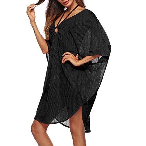 YJYDADA Smock,Women Bathing Cover up Bikini Swimsuit Swimwear Crochet Smock Beach Cover up (Abercrombie Skirt)