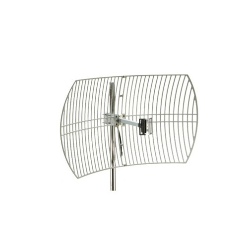 Parabolic Antenna Dish - Premiertek Outdoor 2.4GHz 24DBI Directional High-Gain N-Type Female Aluminum Die Cast Grid Parabolic Antenna (ANT-GRID-24DBI)