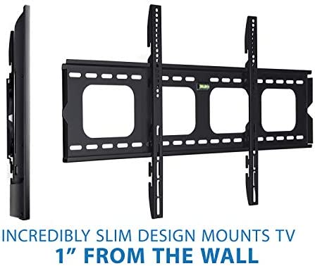 Mount-It Low-Profile Large TV Mount Flush TV Wall Mount Ultra-Slim Fixed TV Mount for 42-70 in. Screen TVs VESA Compatibility up to 800×400 220 lbs Capacity