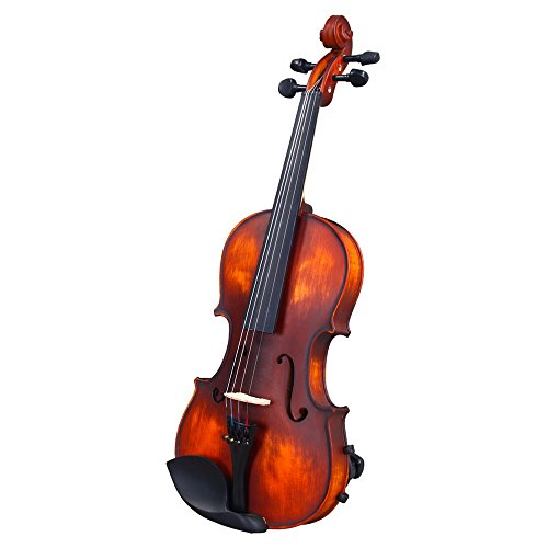 OLYM STORE 1/8 Violin for Children Beginners, Classic Solid Wood Violin Kit with Carrying Case, Shoulder Rest, Bow, Electronic Tuner, Strings& Rosin, Retro Color