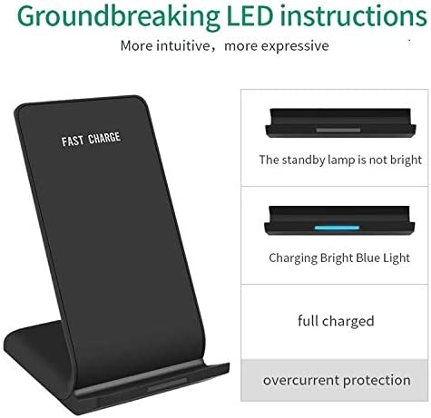 HILZO Wireless Charger 10W Fast Charge Qi Charging Station Compatible with Apple iPhone 11//11 Pro//11 Pro Max//Xs//Xs Max//8//8Plus Qi Charging Station Samsung Galaxy S10Plus//S10//Note10 and More