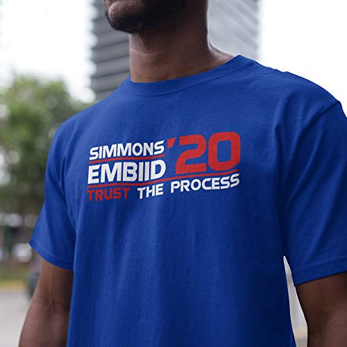 (Simmons-Embiid Basketball Jersey Philly Trust The Process 2020 Customized Handmade T-Shirt Hoodie/Long Sleeve/Tank Top/Sweatshirt)