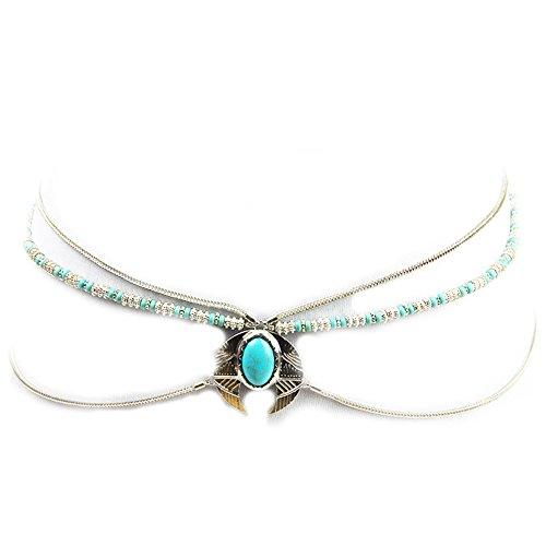 Silver Chain Tone Link Belt (Sexy Waist Belt Imitation Gems Belly Unibody Body Chain(Silver))