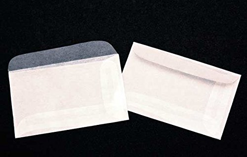 Premium Glassine #1 Envelopes by JBM Glassine; Measures 2-7/8