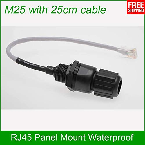- Davitu M25 Ethernet LAN RJ45 Waterproof Connector with 25cm Cable IP67 Protection AP box plug Outdoor Bridge Interface