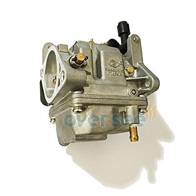 OVERSEE 61N-14301-01 or 61T-14301-00 Outboard Carburetor For Yamaha Outboard Motor 25HP 30HP Old Model 61N 61T, Boat Motor Carburetor Assy, Replacement Carburetor Aftermarket Parts 61N-14301 61T-143