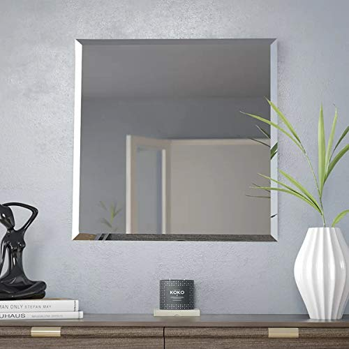 Square Beveled Frameless Bathroom Wall Mirror*