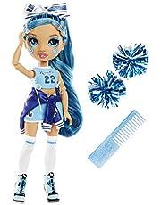 Rainbow High Cheer Modepop - Glamoureuze Outfits, Pom Poms & Cheerleader Pop - Skyler Bradshaw, Blauwe Modepop - Rainbow High Cheer-Serie - Perfect Cadeau voor Meisjes Vanaf 6 Jaar