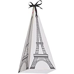 Happy Birthday 'Party in Paris' Eiffel Tower Favor Boxes (8ct)