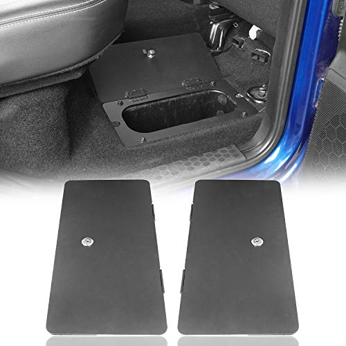 Hooke Road RAM Rear Seat Extra Storage Organizer Tray Lock Vault Box for 09-18 Dodge RAM - Pair