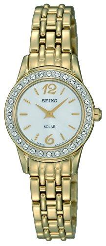 Seiko Reloj Analógico para Mujer de Energía Solar con Correa en Acero Inoxidable SUP128P9