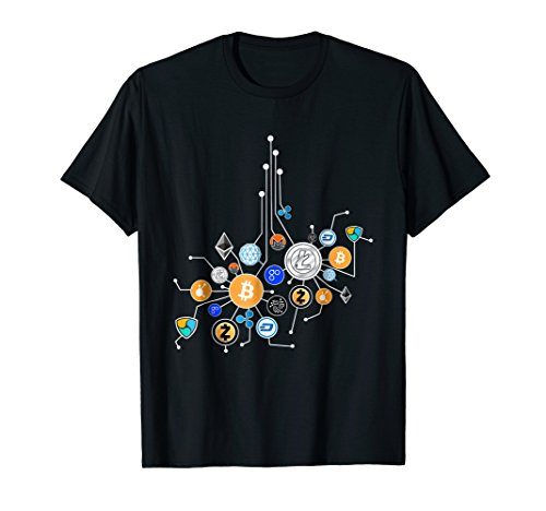 Cryptocurrency Network T-Shirt. Crypto t-shirt gift.