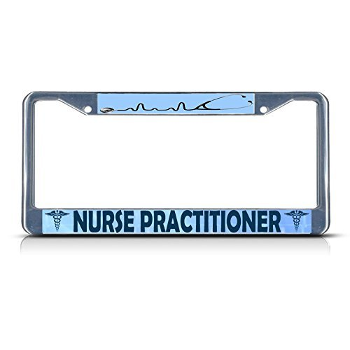 License Plate Covers Nurse Practitioner Medical Doctor METAL Chrome License Plate Frame Tag Holder