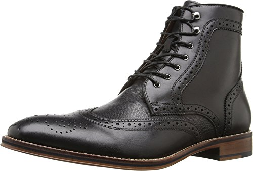 Johnston Murphy Boots (Johnston & Murphy Men's Conard Wign Tip Boot Chukka Boot, Black Italian Calfskin, 8 D US)