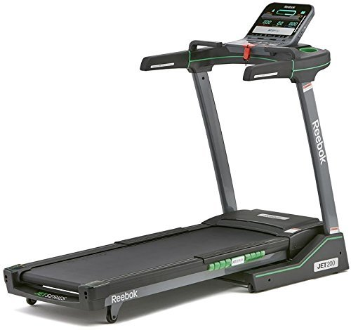 Reebok Unisex's Jet 200 Treadmill, Black/Green, One Size