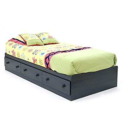 Summer Breeze Collection Twin Bed with Storage - Platform Bed with 3 Drawers