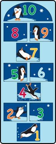 Learning Carpets Penguin Hopscotch Play Carpet
