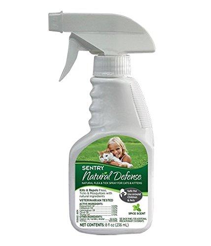 Sentry Natural Defensa Natural pulgas y garrapatas Spray para Gatos, 8 oz: Amazon.es: Productos para mascotas