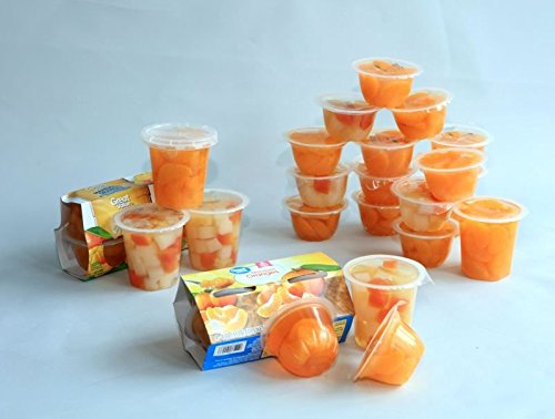 Fresh Mandarin Oranges Fruit Cups - Sweet Orange Extract,Naturally Fat-Free & Cholesterol-Free,All Natural Mandarin Orange Segments,4 Ounce (20 (Organic 100% Orange Extract)