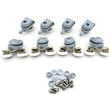 8 Pcs Top / Bottom Shower Door ROLLERS / Runners / Pulleys / Wheels bathroom Replacement Parts 22mm diameter