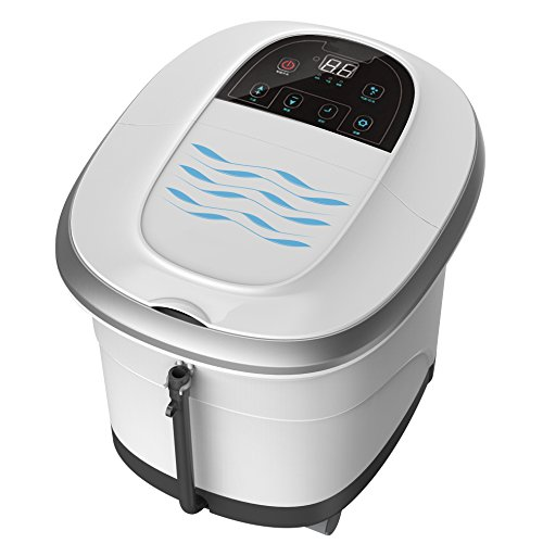 Prospera Pure Calf and Foot Spa, foot bath massager with shiatsu rollers, heat, jets, bubbles, digital temperature and time control, LED display, help to release stress and relieve foot pain, 14 pound