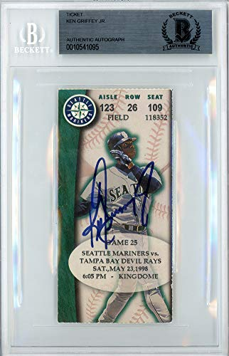 Ken Griffey Jr. Autographed Signed Auto Ticket Seattle Mariners 5 23 1998 Beckett Certified