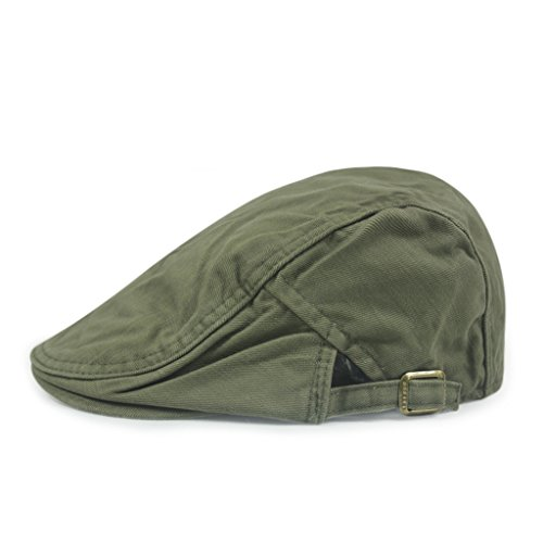 Gumstyle FASHION Men Womens Duckbill Ivy Cap Golf Driving Flat Cabbie Newsboy Beret Hat Solid Color Army Green by Gumstyle