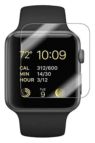 WANGCL VGSDB [2-Pack] Apple Watch 38mm Smart Watch Screen Protector, 9H Hardness, Anti-Scratch, Anti-Fingerprint, Bubble Free[Easy Installation] ...