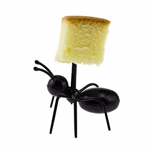 36Pcs Fruit Toothpick Dessert Forks, Plastic Ants Animal Appetizer Forks by TableRe (Image #4)