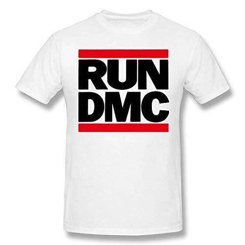 Men Run DMC Classic Short Sleeve T Shirt White,White,Medium