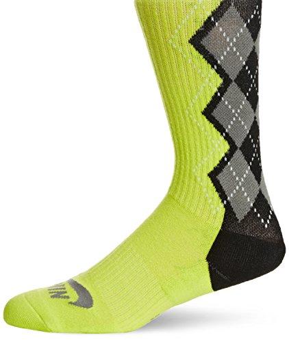 Nike Men's SB Argyle Skateboarding Performance Socks Large Venom Green