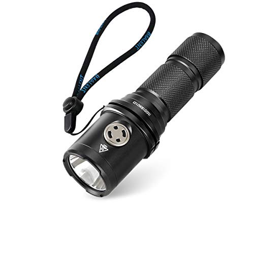 IMALENT DM35 Rechargeable Flashlight, with One Cree XHP35 HI LED Output Up to 2000 Lumens, High Performance Compact Torch