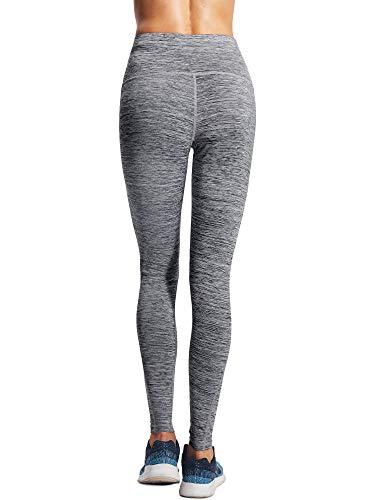 Neleus Tummy Control High Waist Workout Running Leggings for Women,9033,Yoga Pant 3 Pack,Black,Grey,Red,XS,EU S by Neleus (Image #4)
