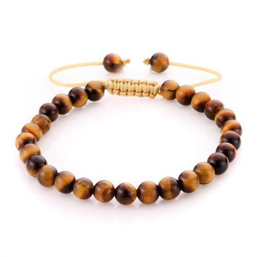 JewelrieShop 6mm Handmade Macrame Adjustable Synthetic Birthstones Beaded Bracelets by JewelrieShop