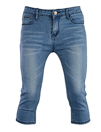Jeans 3/4 Length - PHOENISING Women's 3/4 Length Cropped Denim Pants Fashion Comfy Fabric Jeans