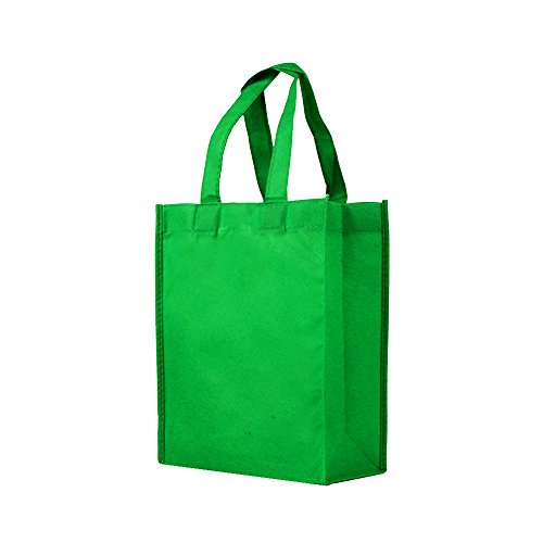 Reusable Gift/Party/Lunch Tote Bags - 25 Pack - Kelly Green -