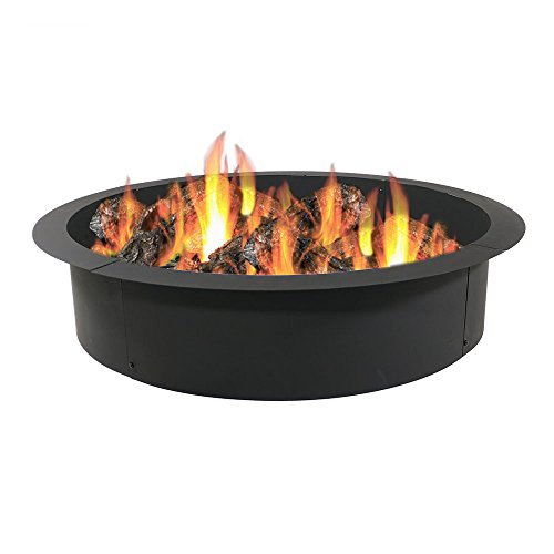 Sunnydaze Fire Pit Ring/Liner, Heavy Duty, DIY Above or In-Ground, 42 Inch Outside x 36 Inch Inside ()