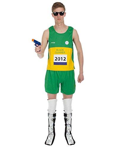 Mens Oscar Pistorius Blade Runner Paralympic Halloween Costume Extra Large