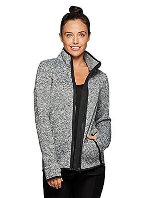 RBX Active Women's Fleece Lined Work-Out Running Sweater Jacket