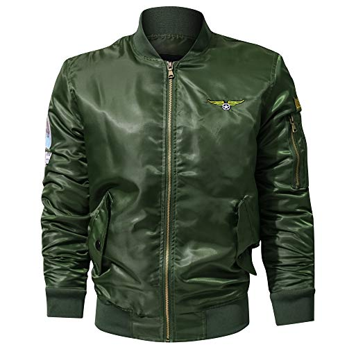 - Men's Casual Jacket Stand Collar Military Clothing Zipper Coat Sunscreen Jacket Clothing Shade Sunshade Riding Shirt Army Green