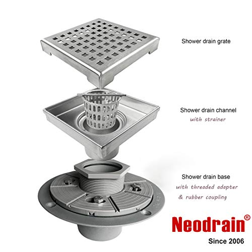 Neodrain 4-Inch Square Shower