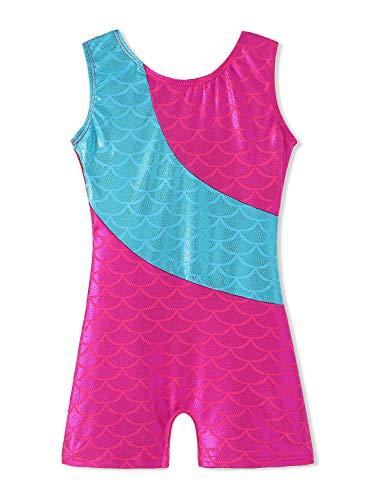 ToddlerGirls-Gymnastics-Leotard-Mermaid-Rainbow-Biketard-Shortall-3-15Years