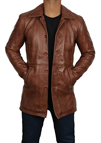 fjackets Genuine Brown Leather Jacket Men Coat | [1500023], Supernatural Tan