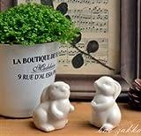 Bao ZAKKA groceries at a single look up to the sky mini garden ceramic chubby rabbit (2)
