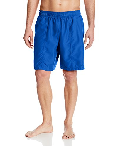 Speedo Men's Core Basic Rally Solid Volley Swim Trunks, Classic Blue, Large