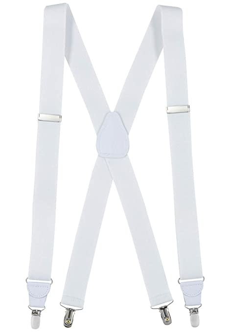 Men's Vintage Style Suspenders HoldEm Suspender for Men Made in USA X-Back Genuine Leather Crosspatch Clip $22.99 AT vintagedancer.com